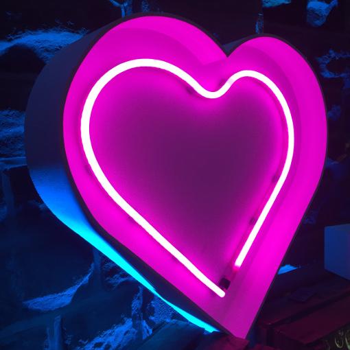 Neon Pink Heart