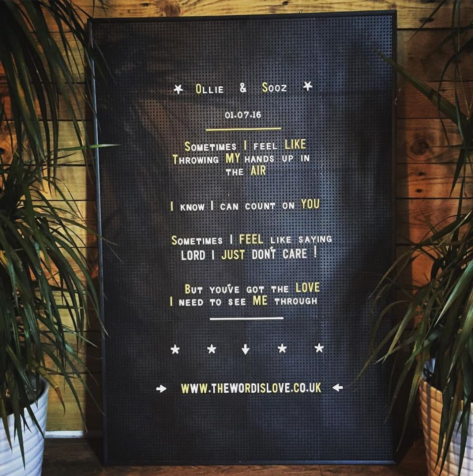 Black peg message board
