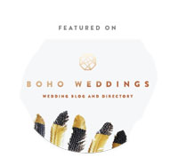 boho featured wedding supplier of light up letters