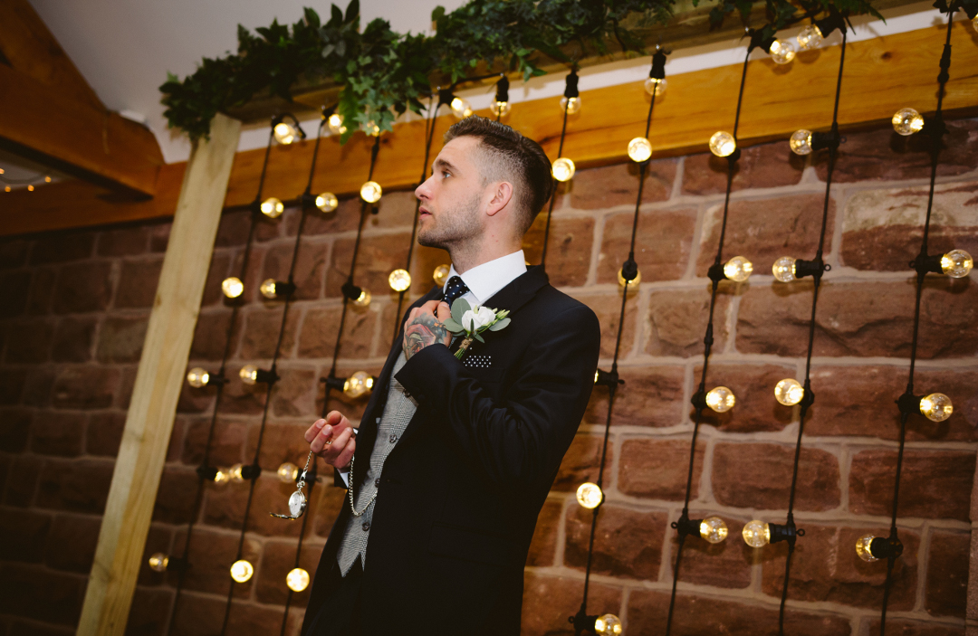rustic festoon frame backdrop by the word is love with garland