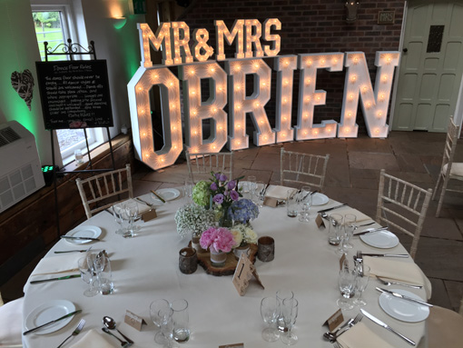 Mr And Mrs Large Wooden Letters: Light Up Letters Hire, Events, Wedding Letters & Props