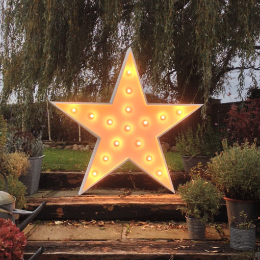 light up star by the word is love