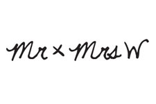 mr and mrs w logo event planenrs