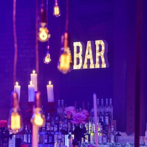 tabletop light up letters bar sign