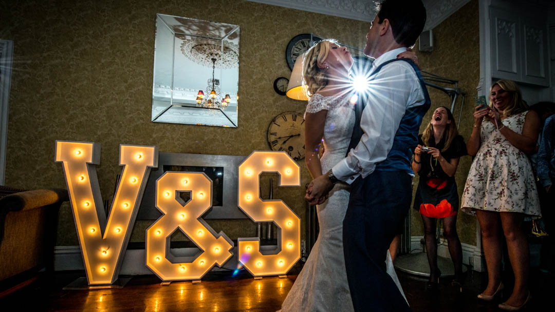 light up letter initials word is love prop hire
