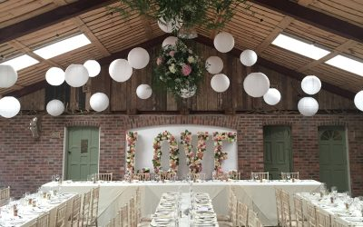 Light up letters at Owen house Wedding Barn – Mobberley, Cheshire