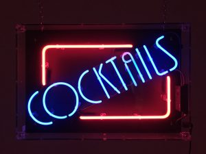 Neon Cocktails Sign to hire