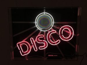 Neon Disco sign to hire
