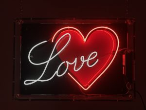 Neon Love and Heart to hire