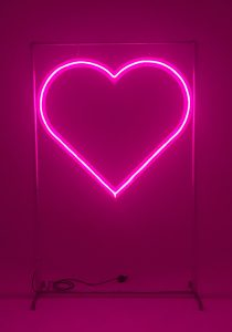 Neon Heart Backdrop for top table