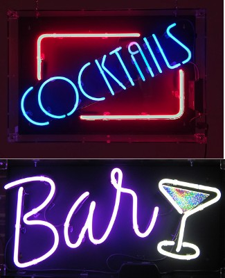 neon signs to hire from the word is love