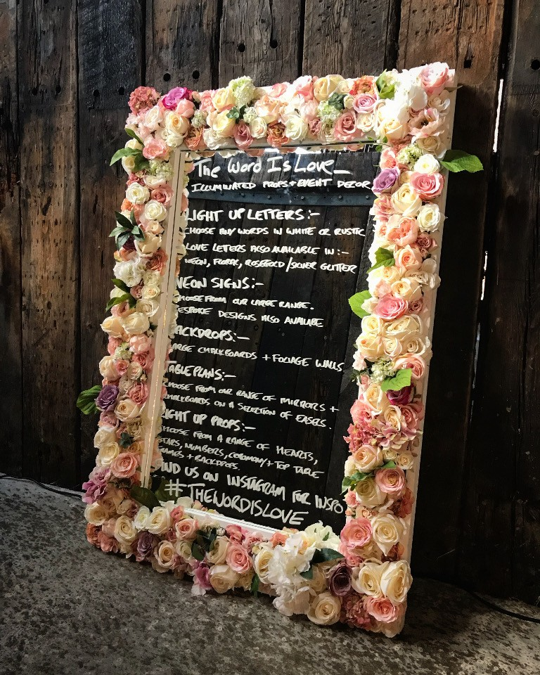 Floral Frame Mirror Message board