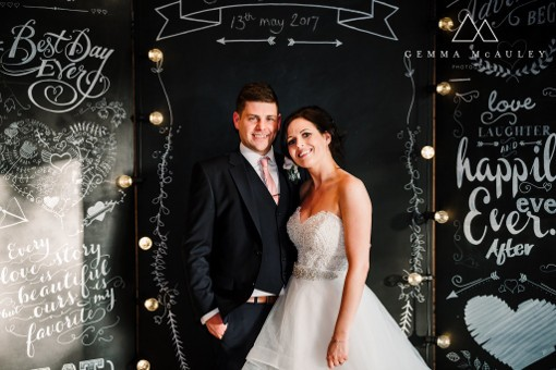Wedding Chalkboard Backdrop with Lights