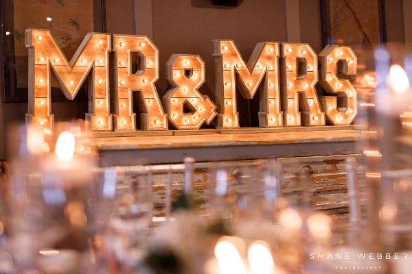 mrs and mrs light up letters